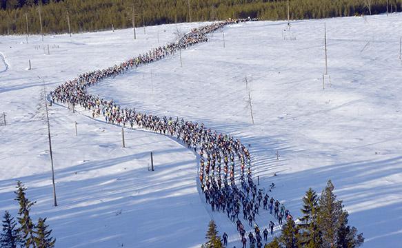 Vasaloppet hiihdetään kaksi viikkoa Jämi42:n jälkeen. Kuva: Vasaloppet / Nisse Schmidt